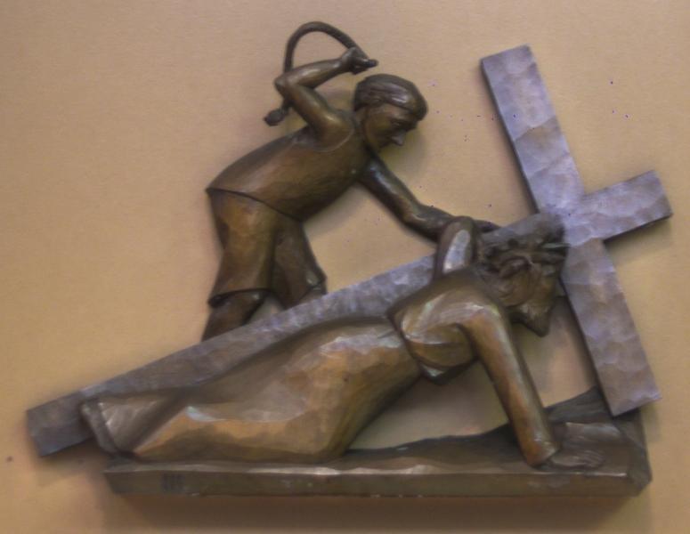 3. Station: Jesus fällt zum ersten Mal unter dem Kreuz