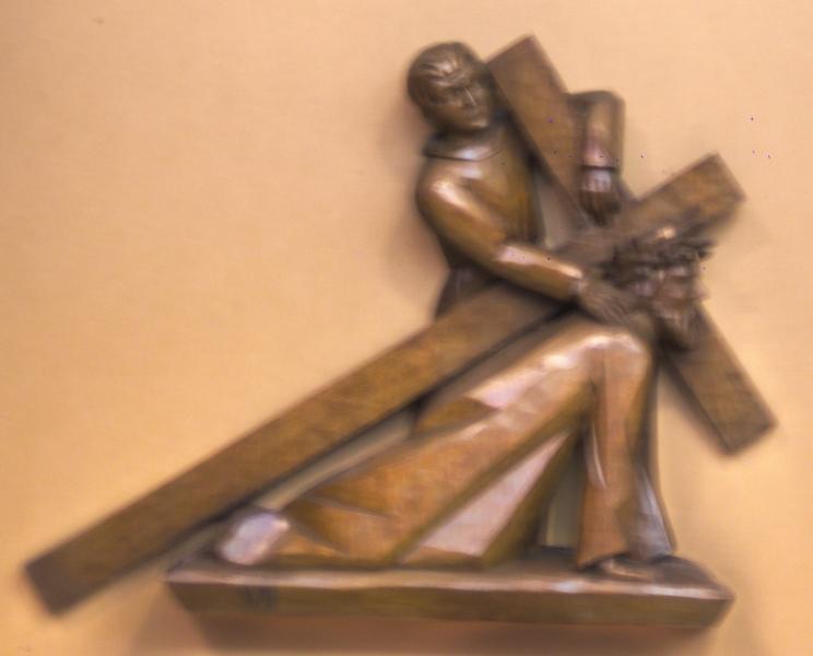 7. Station: Jesus fällt zum zweiten Mal unter dem Kreuz