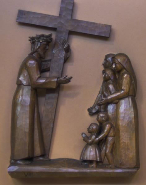 8. Station: Jesus begegnet den weinenden Frauen