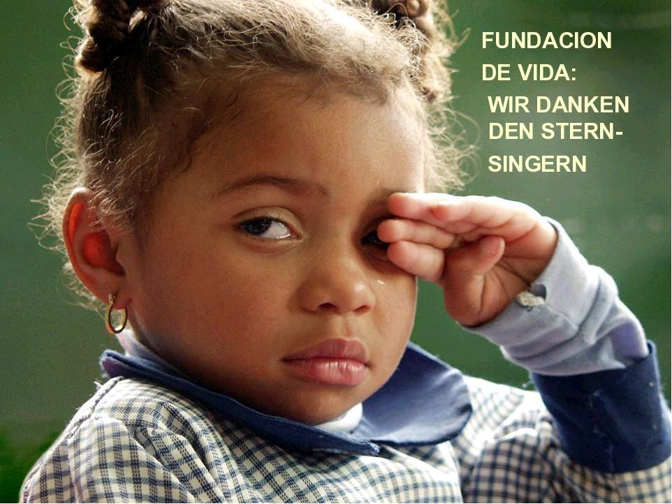 Die Fundacion de vida sagt Danke
