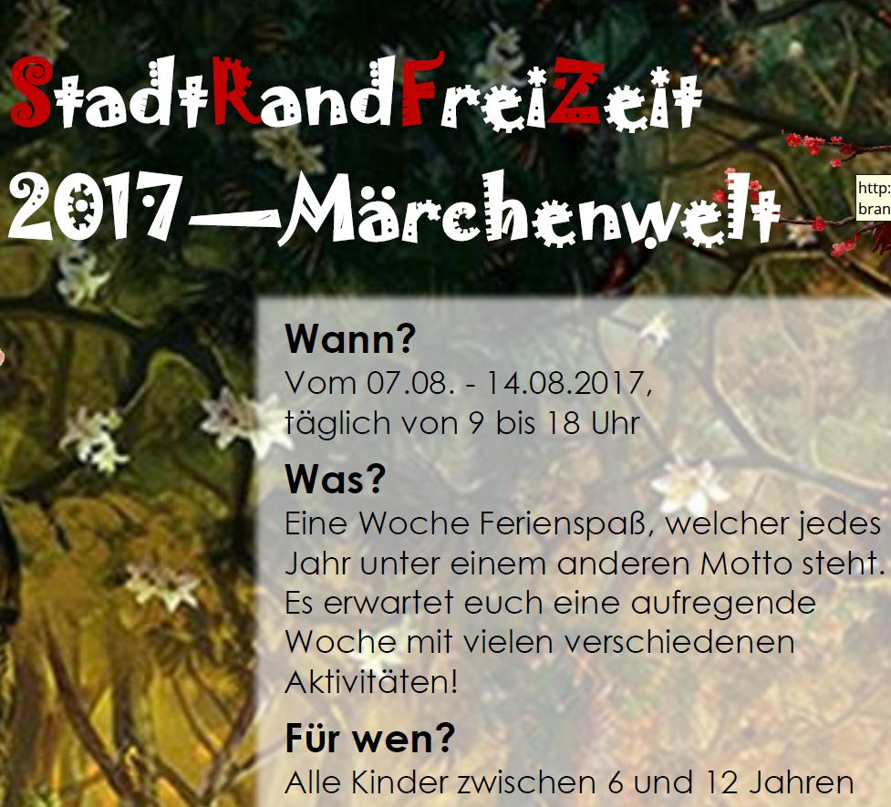 Stadtrandfreizeit 2017