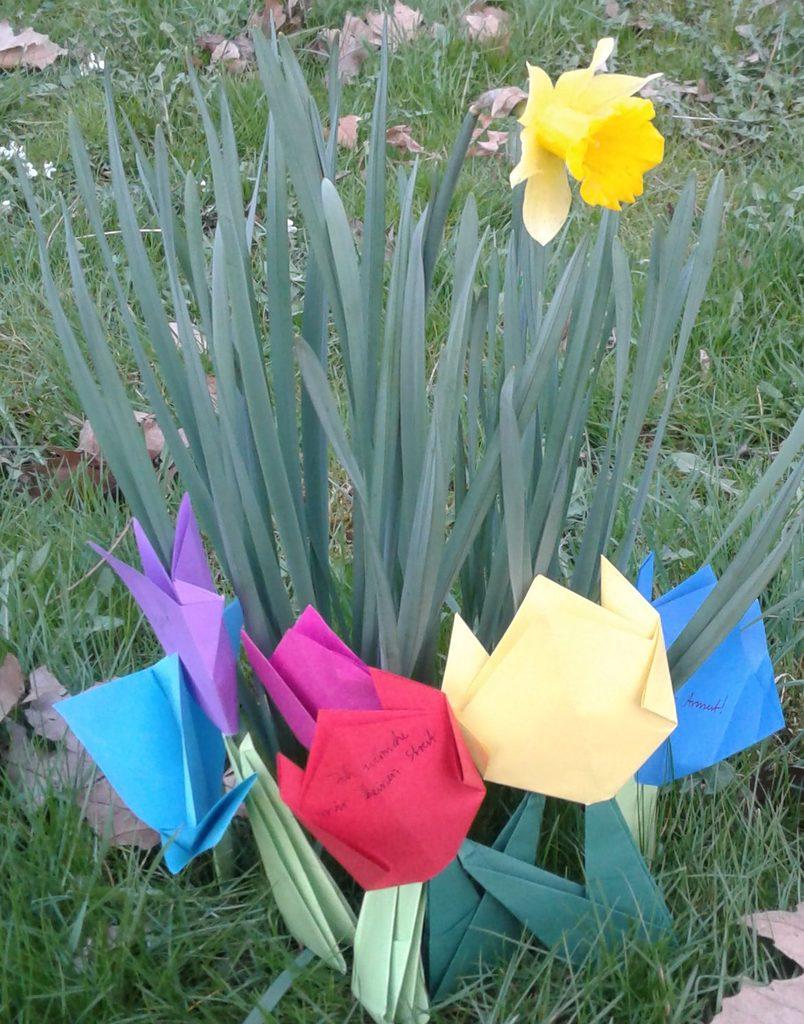 gebastelte Blumen