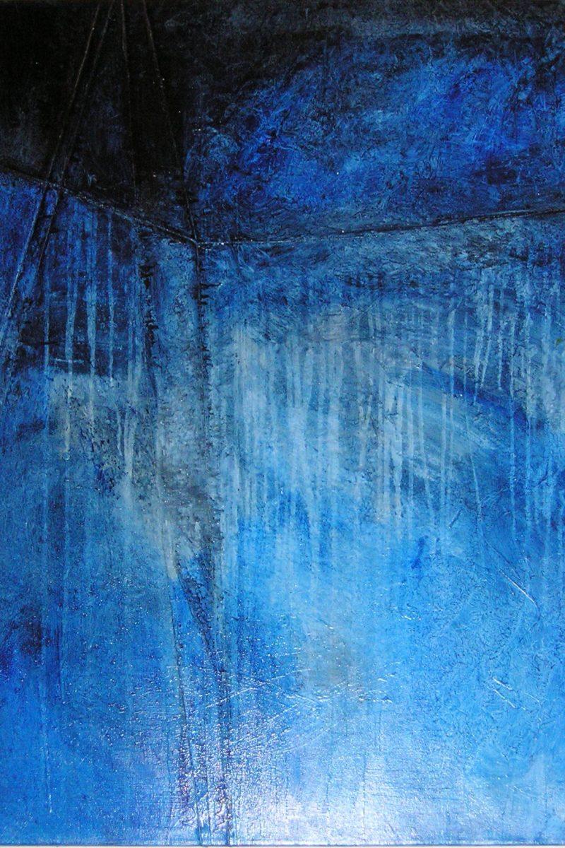Blaues Kunstwerk