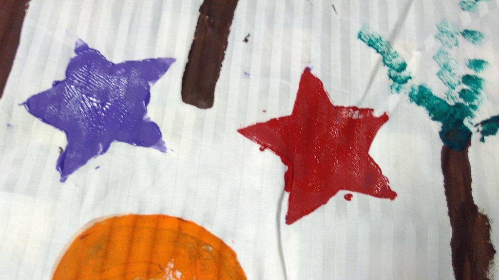 Sterne auf der Kinderkirchen-Altardecke