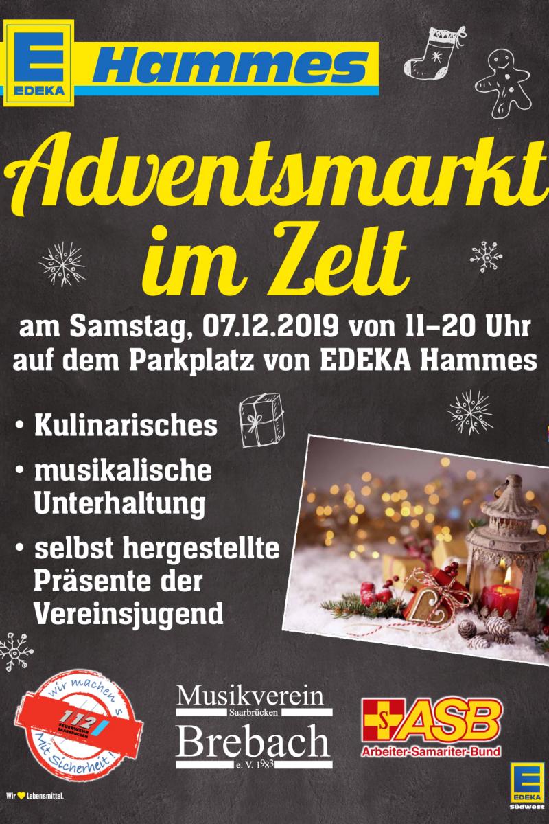 Adventsmarkt im Zelt