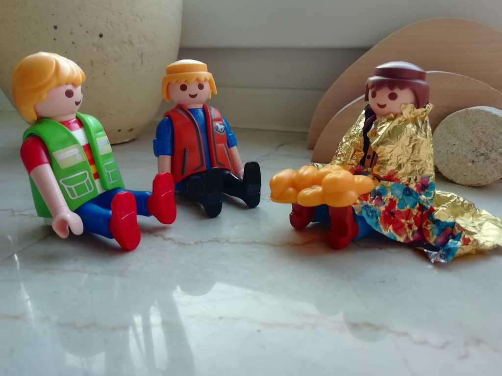 Die Jünger erkennen Jesus beim Brot brechen