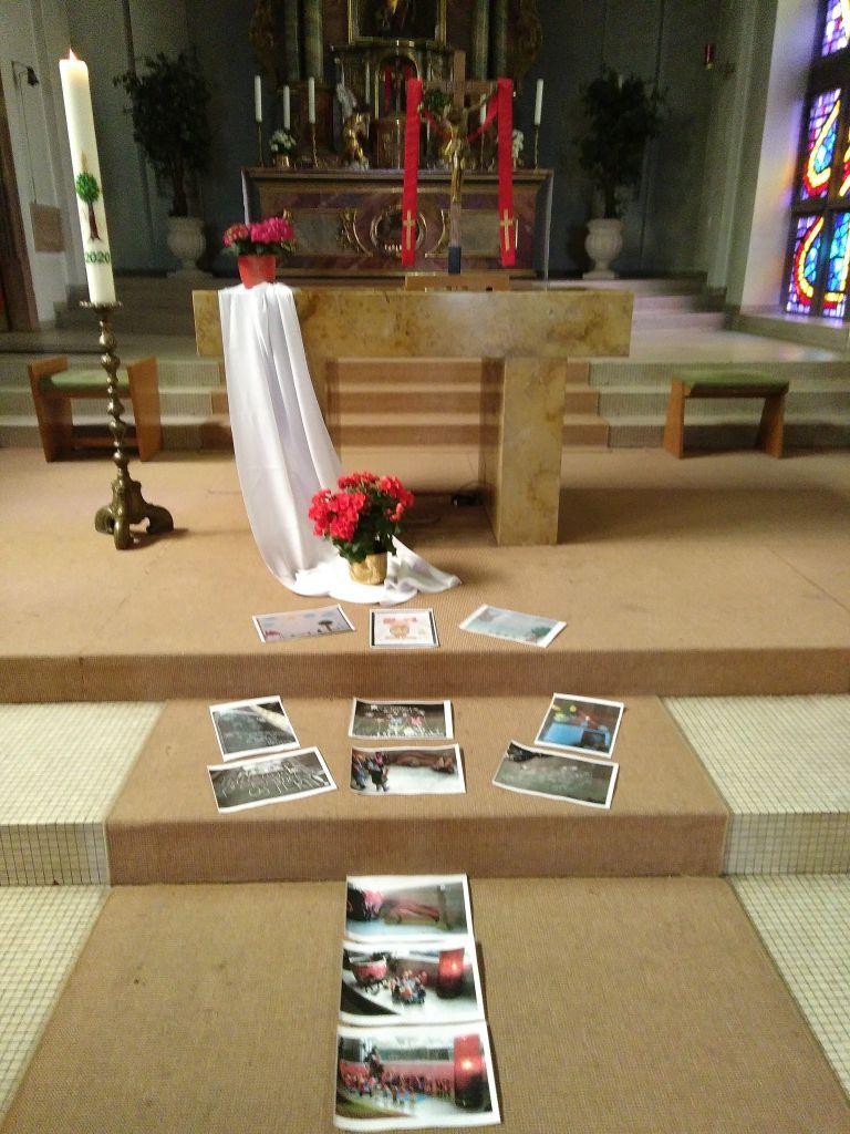 Osterbilder in der Bübinger Kirche