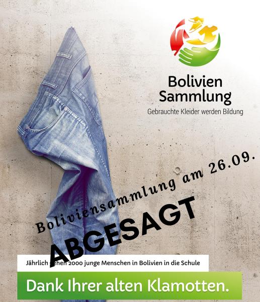 Bolivien-Kleidersammlung abgesagt