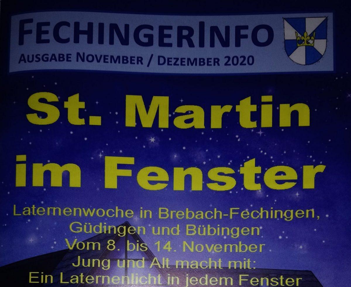 Die Martinsaktion im Fechinger Info