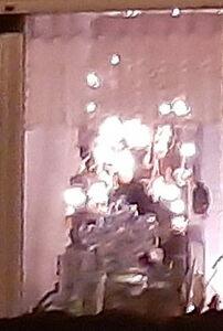 Lichterketten im Fenster