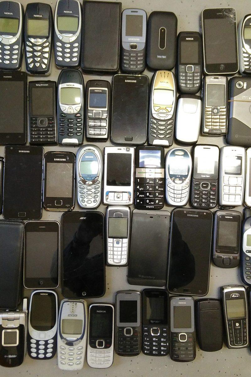 80 alte Handys wurden in der letzten Zeit gesammelt