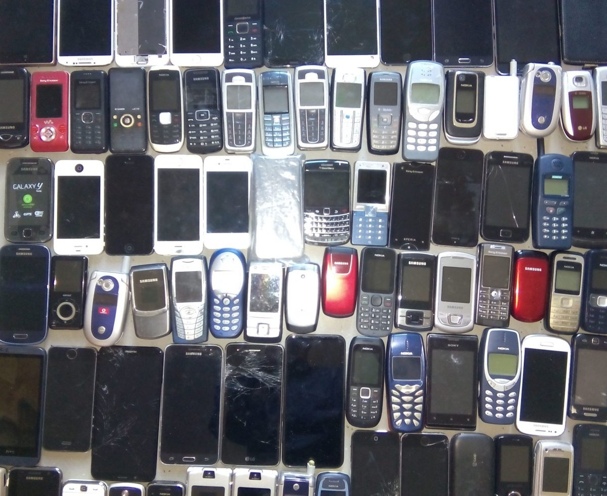 85 alte Handys werden recycelt